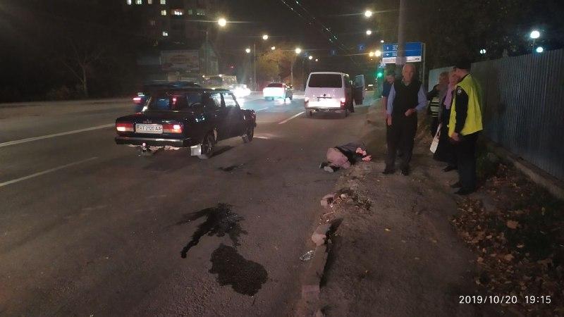 НаТисменицькій під колеса авто потрапив п'яний пішохід (ФОТОФАКТ)