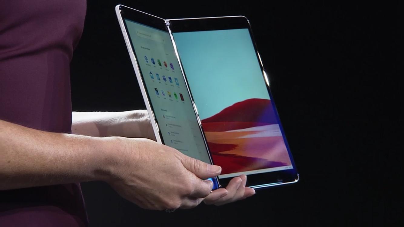Microsoft представила складаний планшет з двома екранами