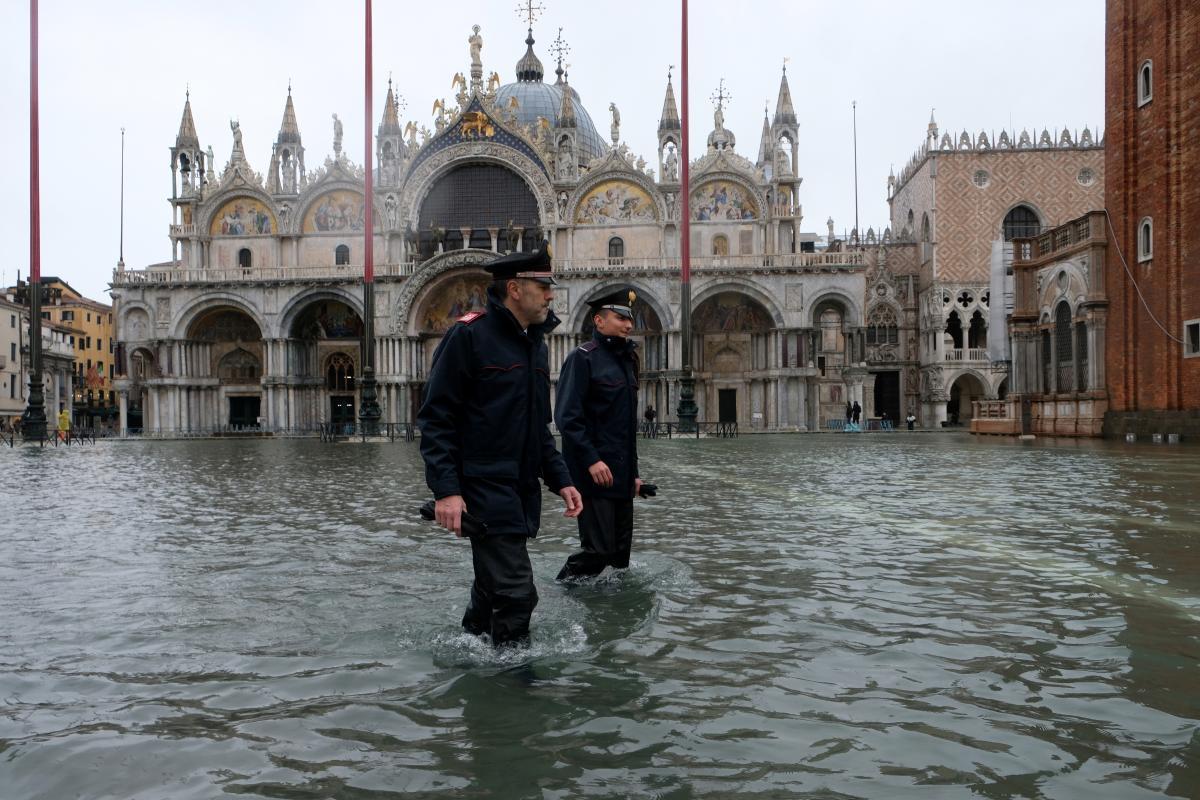 Удруге за літо. Площу Сан-Марко у Венеції знову затопило (ВІДЕО)