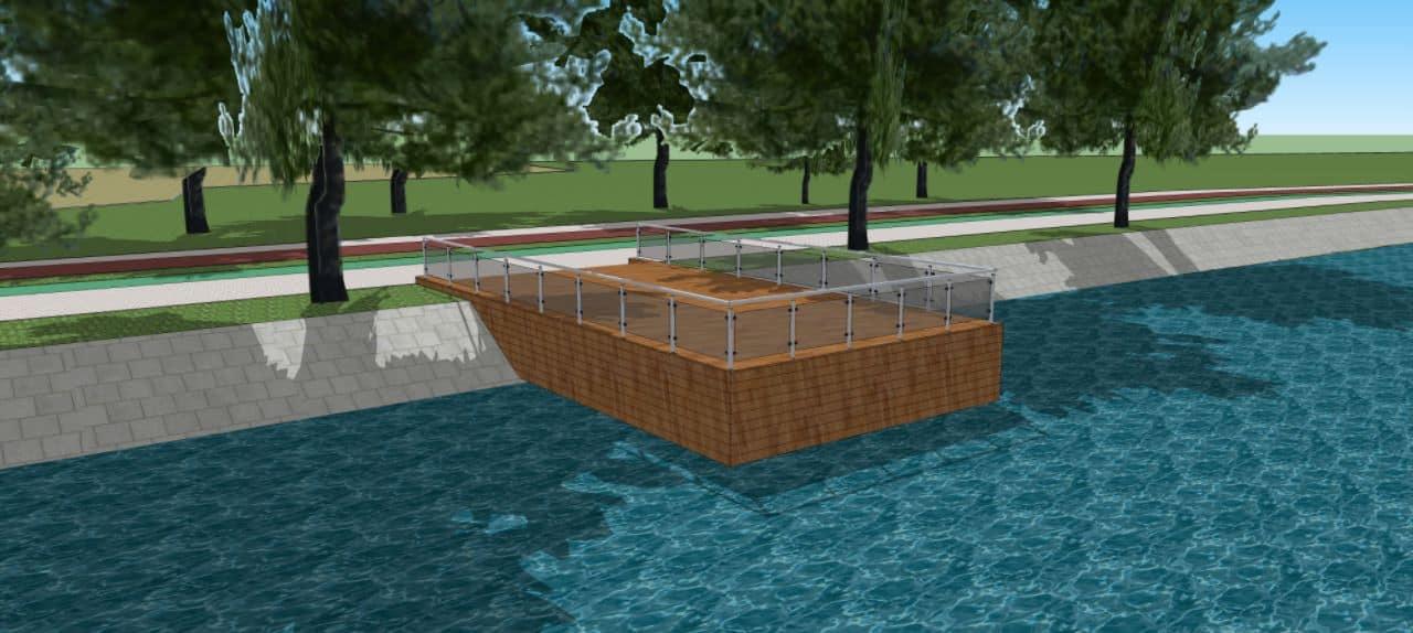Дерево і скло. На міському озері взялися за капітальний ремонт пірсів (ФОТО)