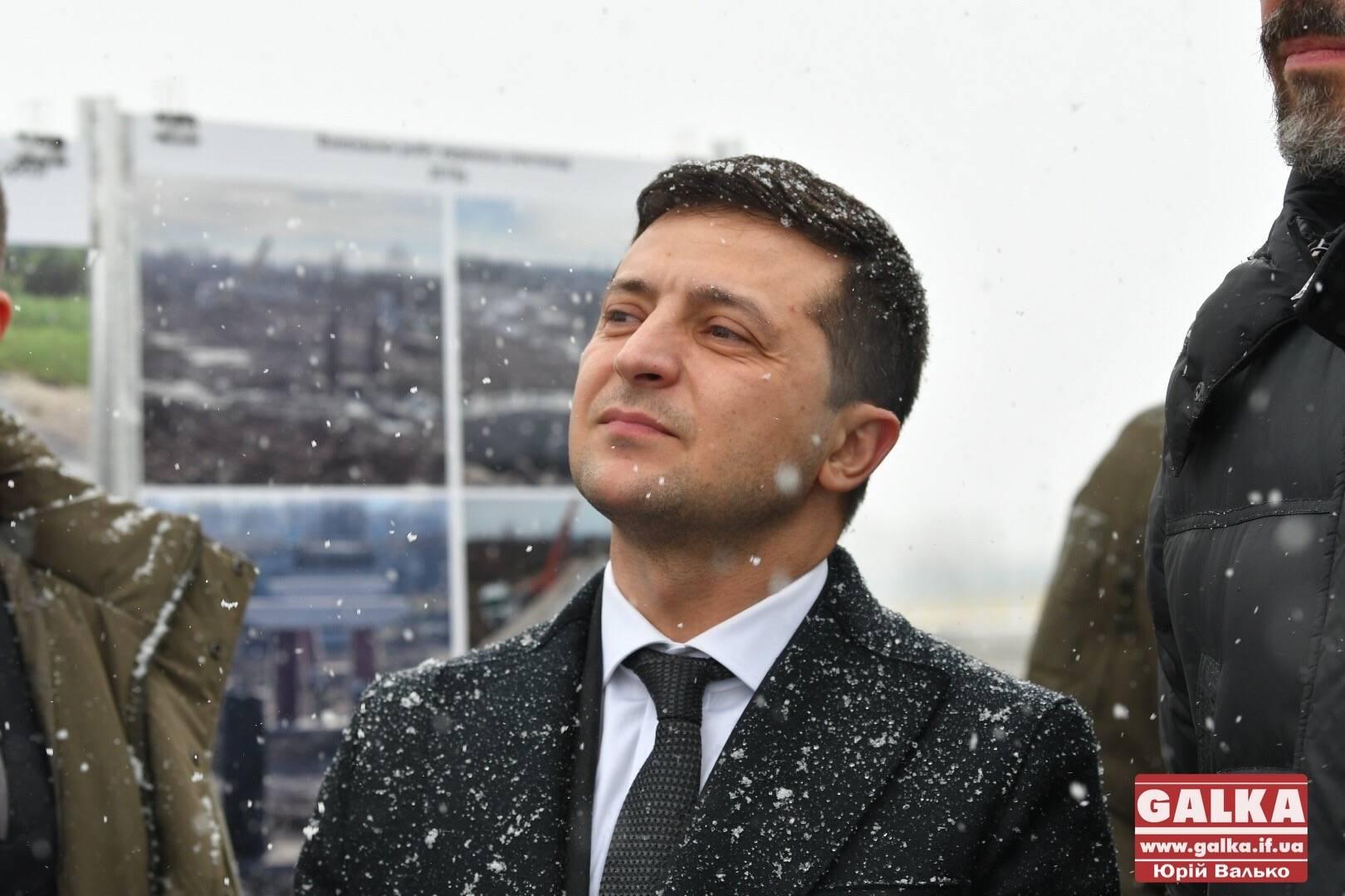 Зеленський пройшовся новим мостом на Калущині (ФОТО, ВІДЕО)