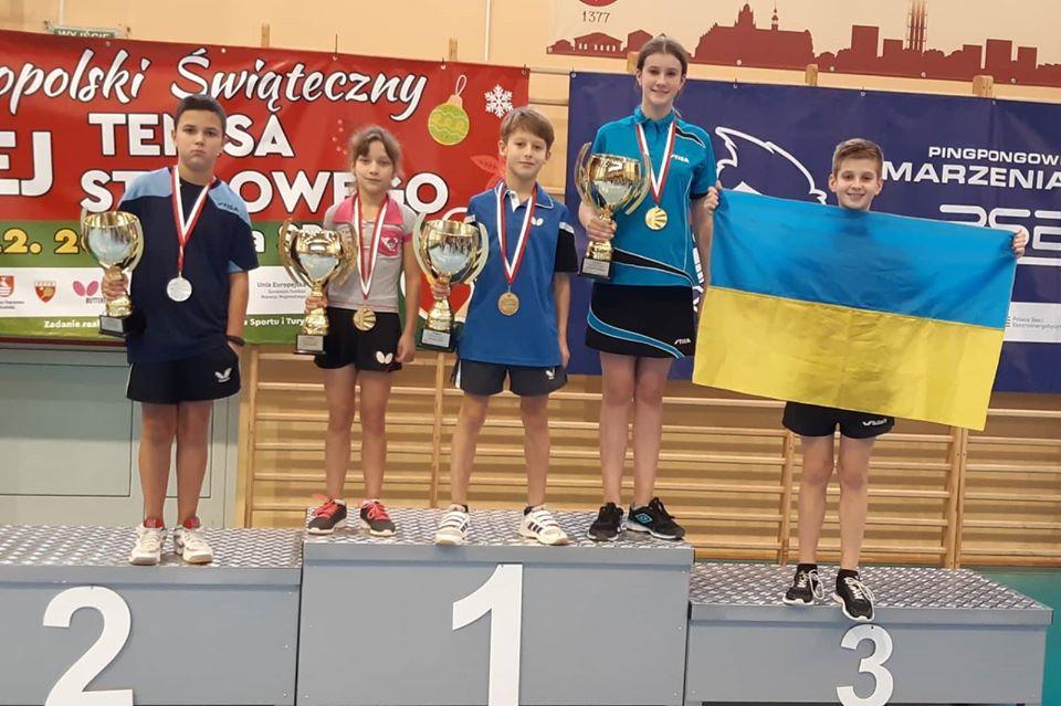 Юні прикарпатські тенісисти перемогли на турнірі в Польщі (ФОТО)