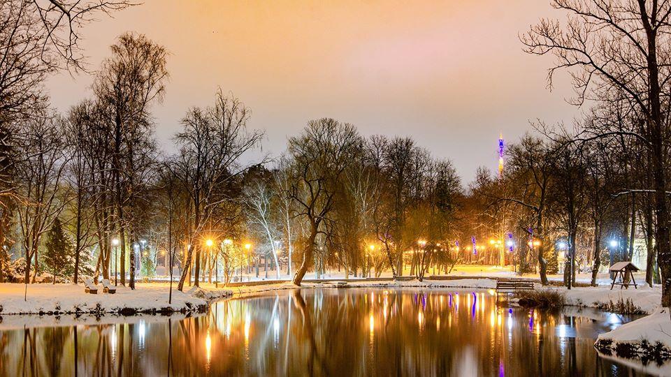 У мережі з'явились казкові світлини в зимовому парку Франківська (ФОТО)