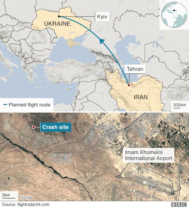 """У РНБО заявили про три """"закриті"""" версії авіакатастрофи в Ірані"""