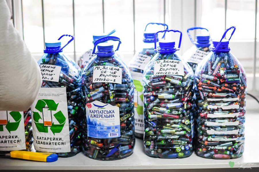 Активісти з Верховини відправили на переробку понад 65 кг батарейок (ФОТО)