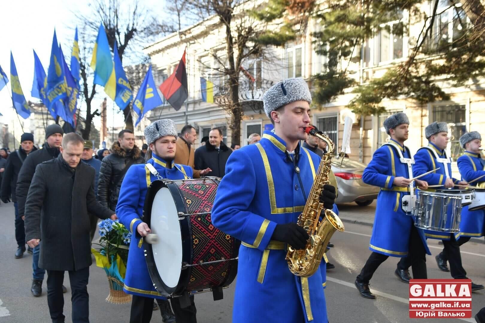 Хода та віче: День соборності України відзначили в Івано-Франківську (ФОТО)