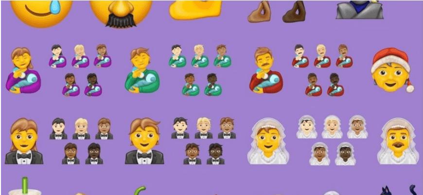 Наречений у фаті та нейтрально гендерний Санта: Unicode представили понад сто нових емодзі, які з'являться в телефонах (ВІДЕО)