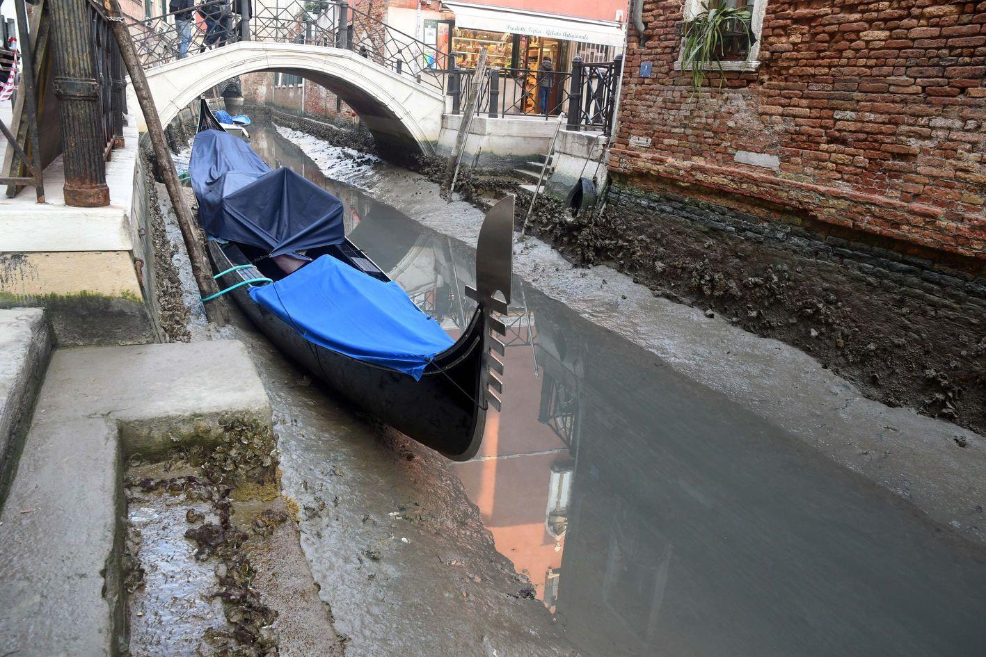 У Венеції пересохли канали (ФОТО)