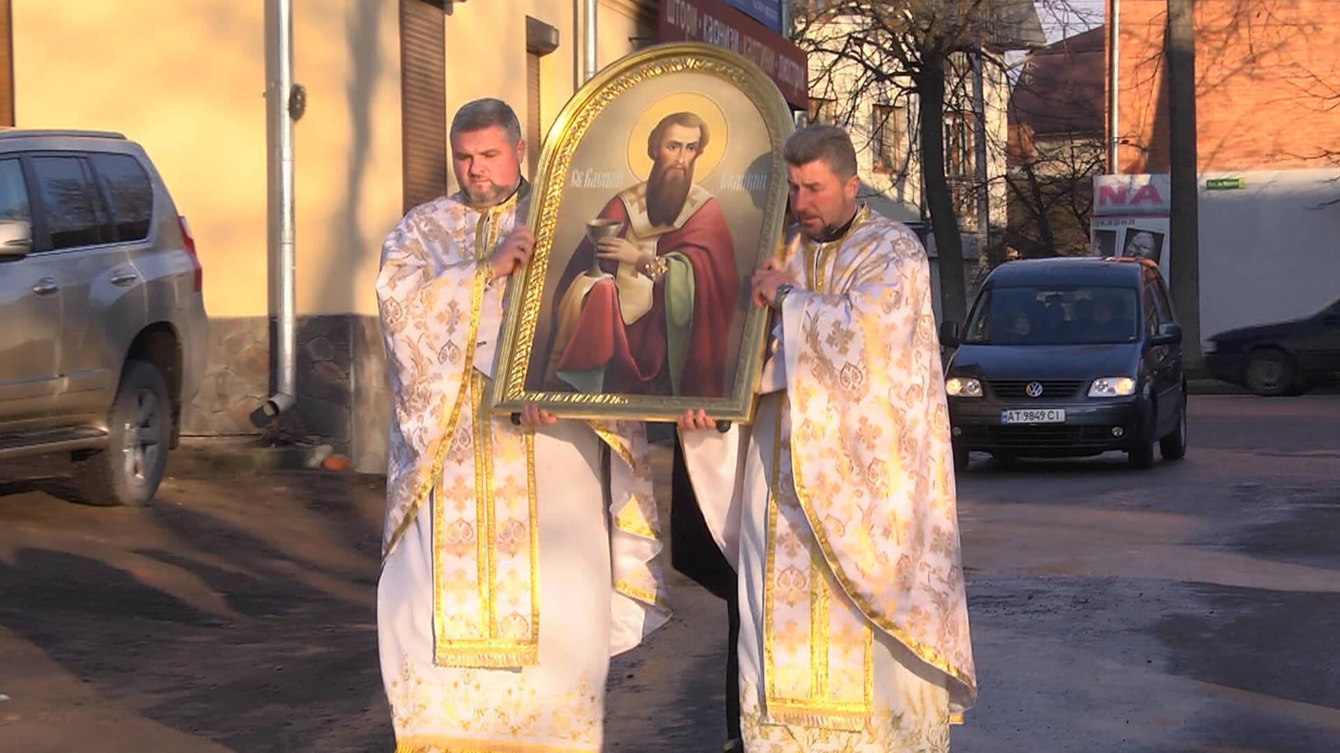 В Коломию привезли мощі Василія Великого (ВІДЕО)