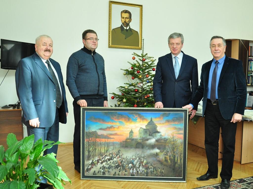 Унікальну картину від франківських студентів-художників отримав Гошівський монастир (ФОТО)