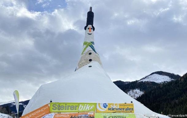 В Австрії зліпили найвищого у світі сніговика (ФОТО)