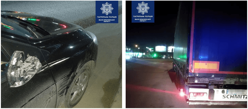 На вулиці Крихівецькій п'яний водій врізався у вантажівку і втік (ФОТО)