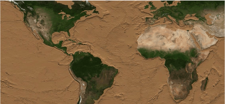 Вчені показали, як виглядатиме Земля, якщо всі водойми висохнуть (ВІДЕО)