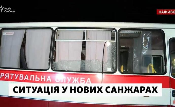 Биті вікна і барикади з вогнем: на Полтавщині відтіснили протест і завезли людей з Уханю (ВІДЕО)
