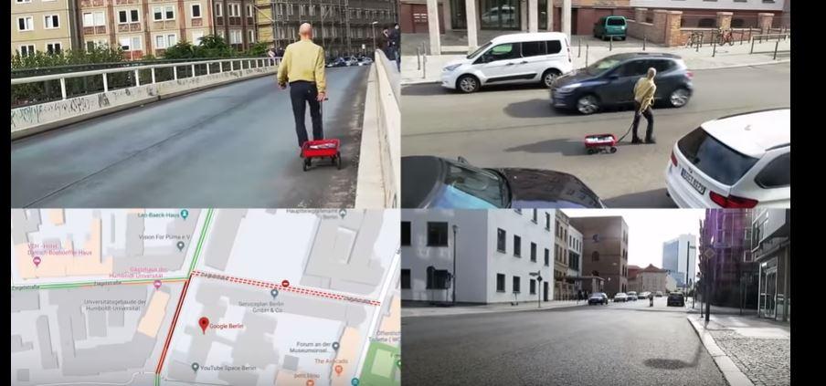 Художник возив по Берліну візок із 99 смартфонами і створював пробки в Google Maps (ВІДЕО)
