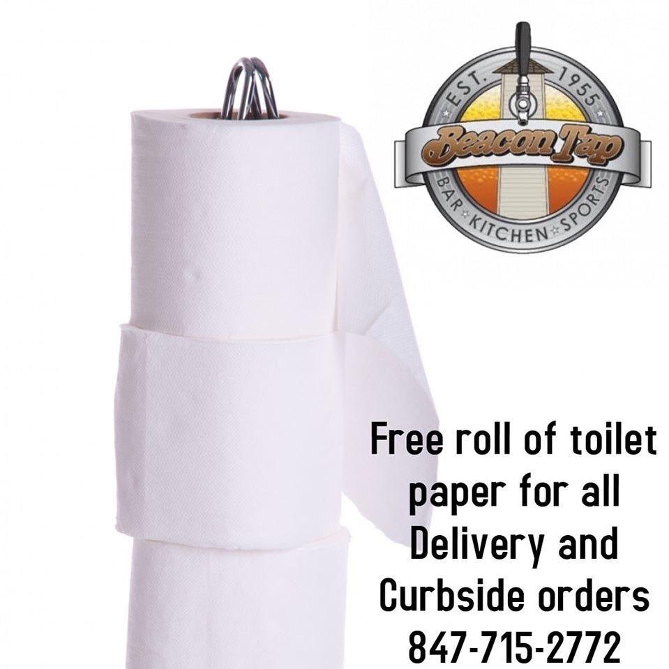 У передмісті Чикаґо ресторан пропонує всім, хто замовив доставку їжі, безкоштовний рулон туалетного паперу