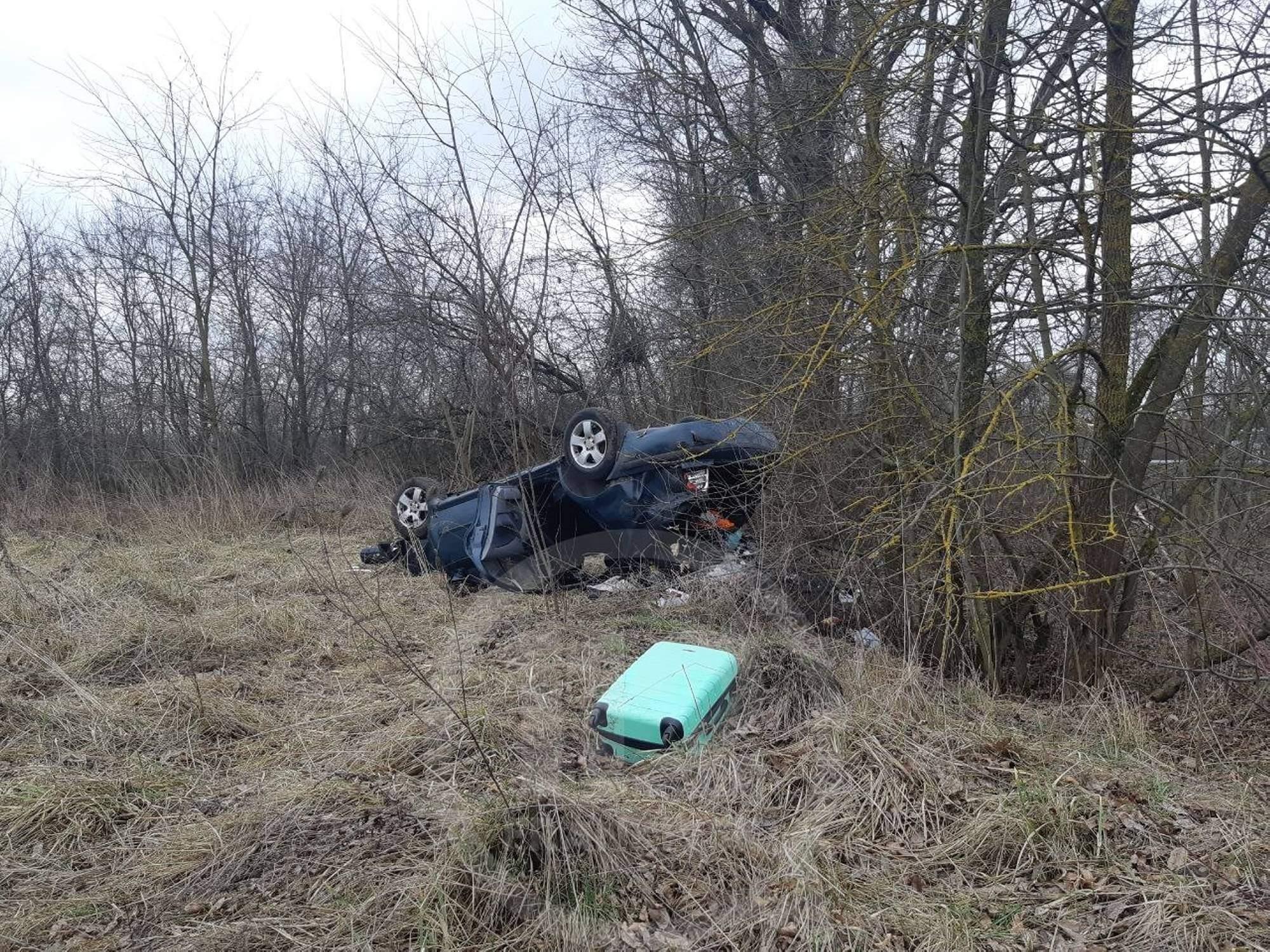 На дорозі Франківськ-Львів ДТП: від удару авто викинуло з дороги (ФОТО)
