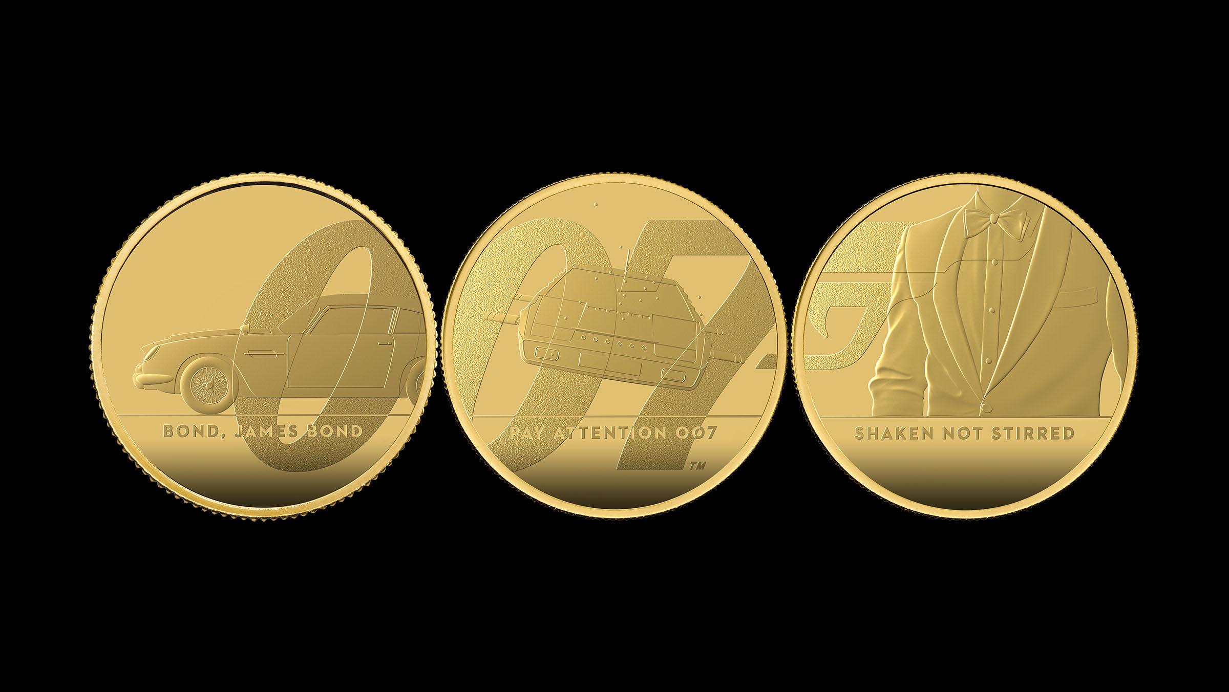 У Британії випустили 7-кілограмову монету на честь Джеймса Бонда (ФОТО)