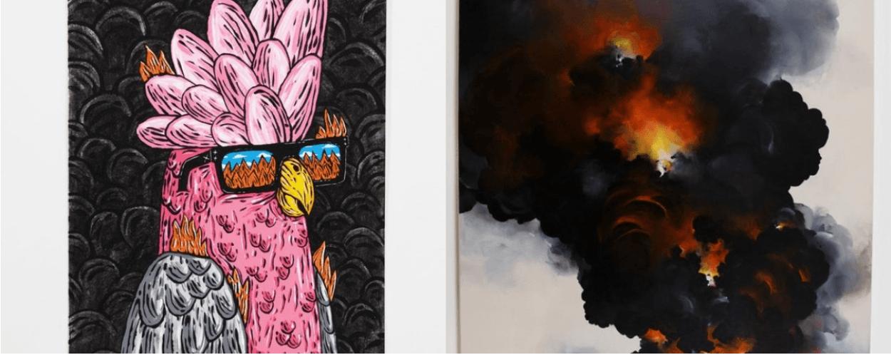 В Австралії відкрилася виставка робіт, створених з допомогою вугілля від лісових пожеж