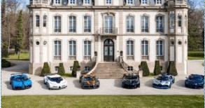 Bugatti похизувався шістьма ексклюзивними автомобілями за $35 млн (ФОТО)