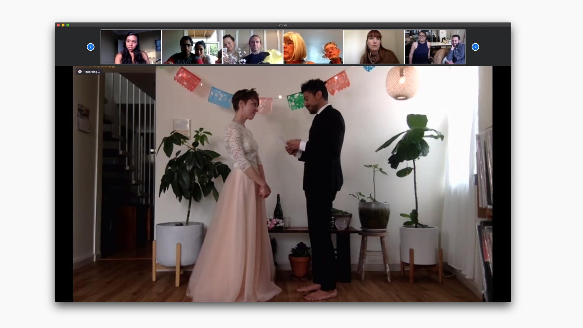В Америці пара одружилася онлайн