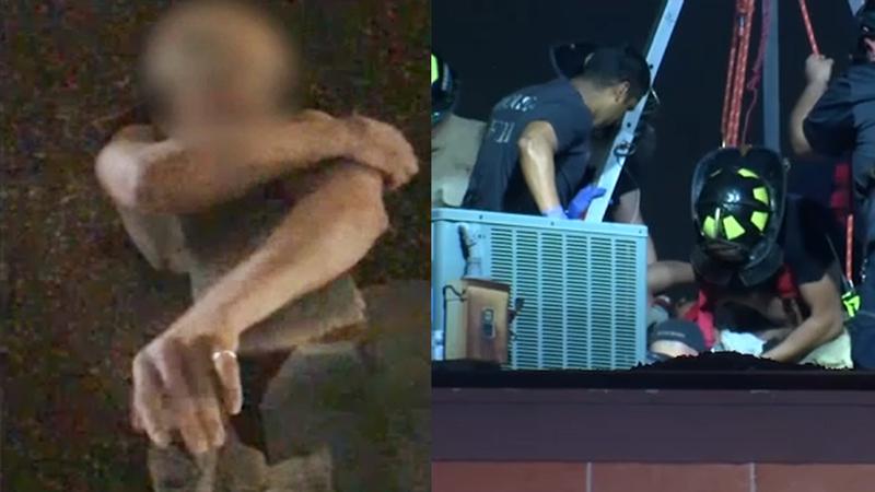 Санта-невдаха: у США чоловік застрибнув у трубу на даху і застряг (ВІДЕО)
