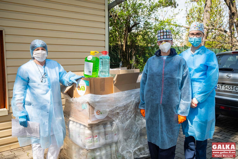 Лінія магазинів EVA передала 10 лікарням Івано-Франківської області засоби дезінфекції