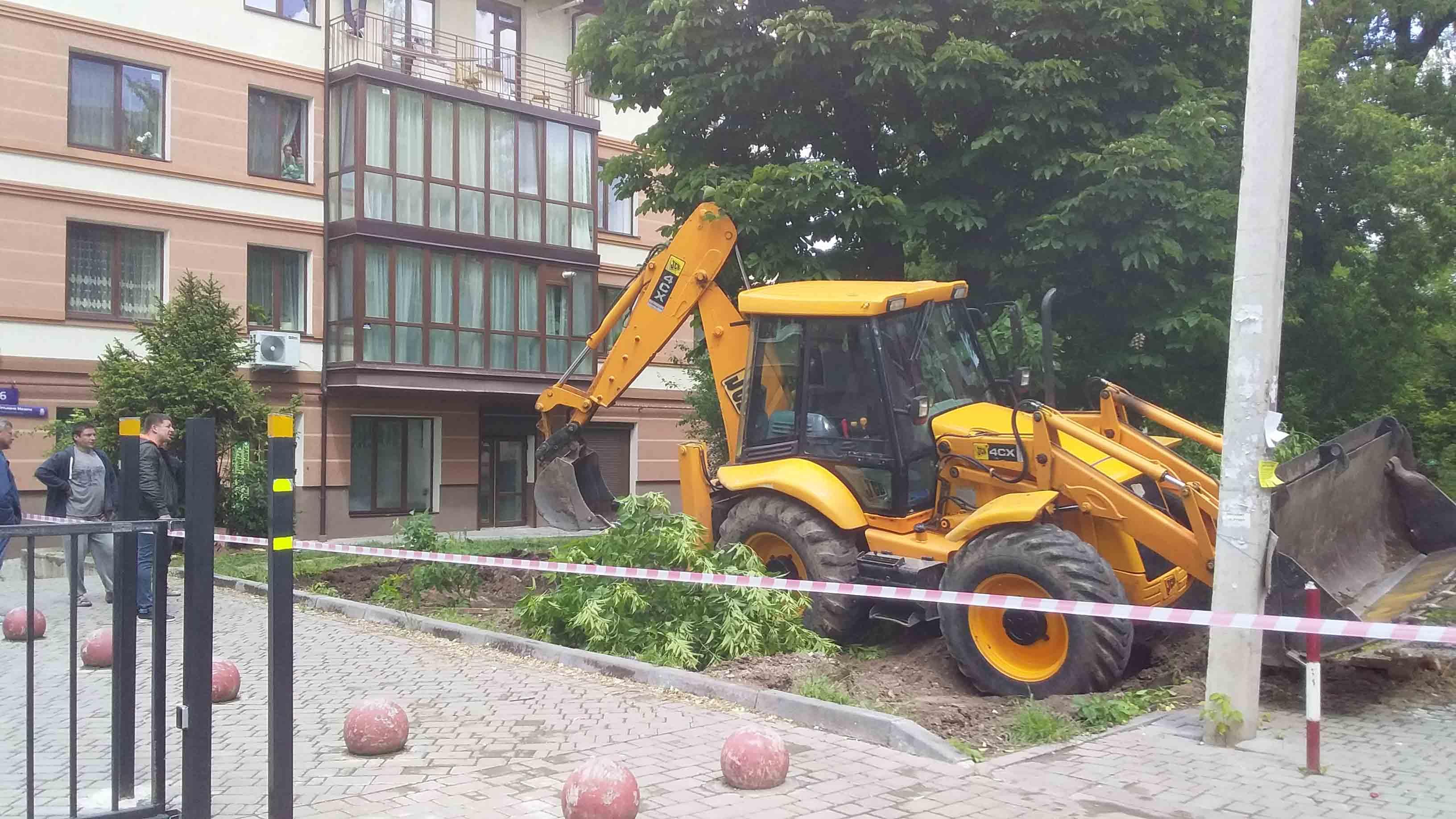 У дворі на Мазепи почали різати дерева: мешканці обурені, комунальники не бачать проблеми (ФОТО)