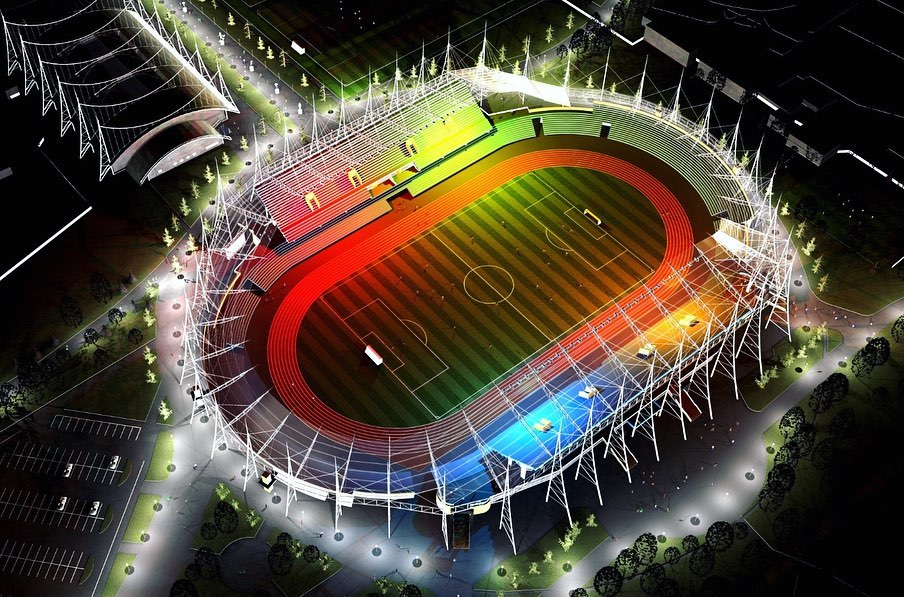 """У мережі показали, як міг виглядати франківській стадіон """"Рух"""" (ПРОЄКТИ)"""
