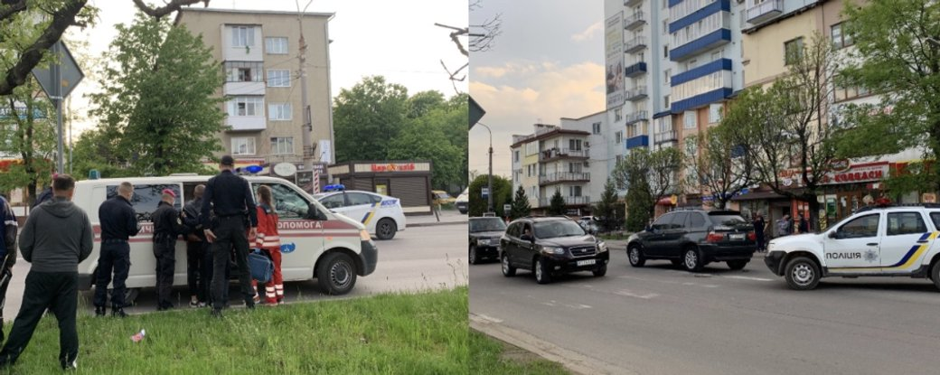 Кинувся під авто: на Коновальця BMW збила чоловіка (ФОТО)