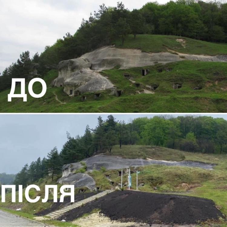 На Львівщині зруйнували пам'ятку археології VII століття заради гіпсової статуї Богородиці (ФОТО)