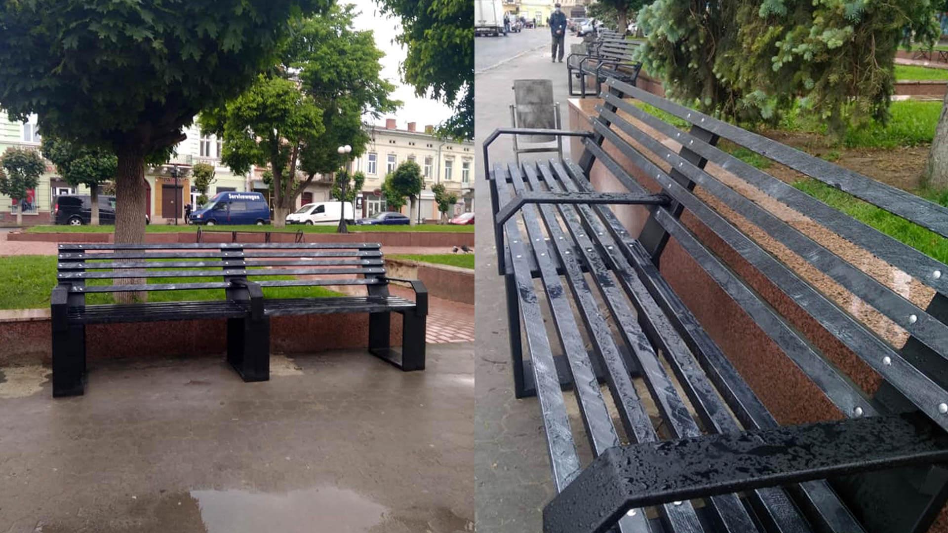 Нові лавки встановили у центрі Коломиї (ФОТО)
