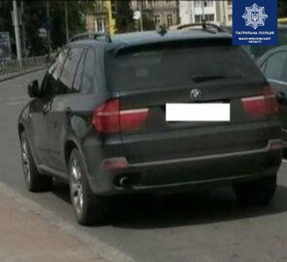 Патрульні забрали права у франківського водія BMW, котрий на камеру хизувався порушеннями (ВІДЕО)