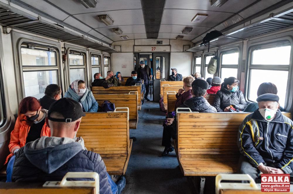 Вперше за два місяці на Прикарпатті поїхали пасажирські потяги (ФОТОРЕПОРТАЖ)