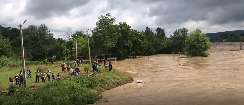 Дорогу між Коломиєю і Косовом перекривають: у Пруті критично піднялася вода (ВІДЕО)