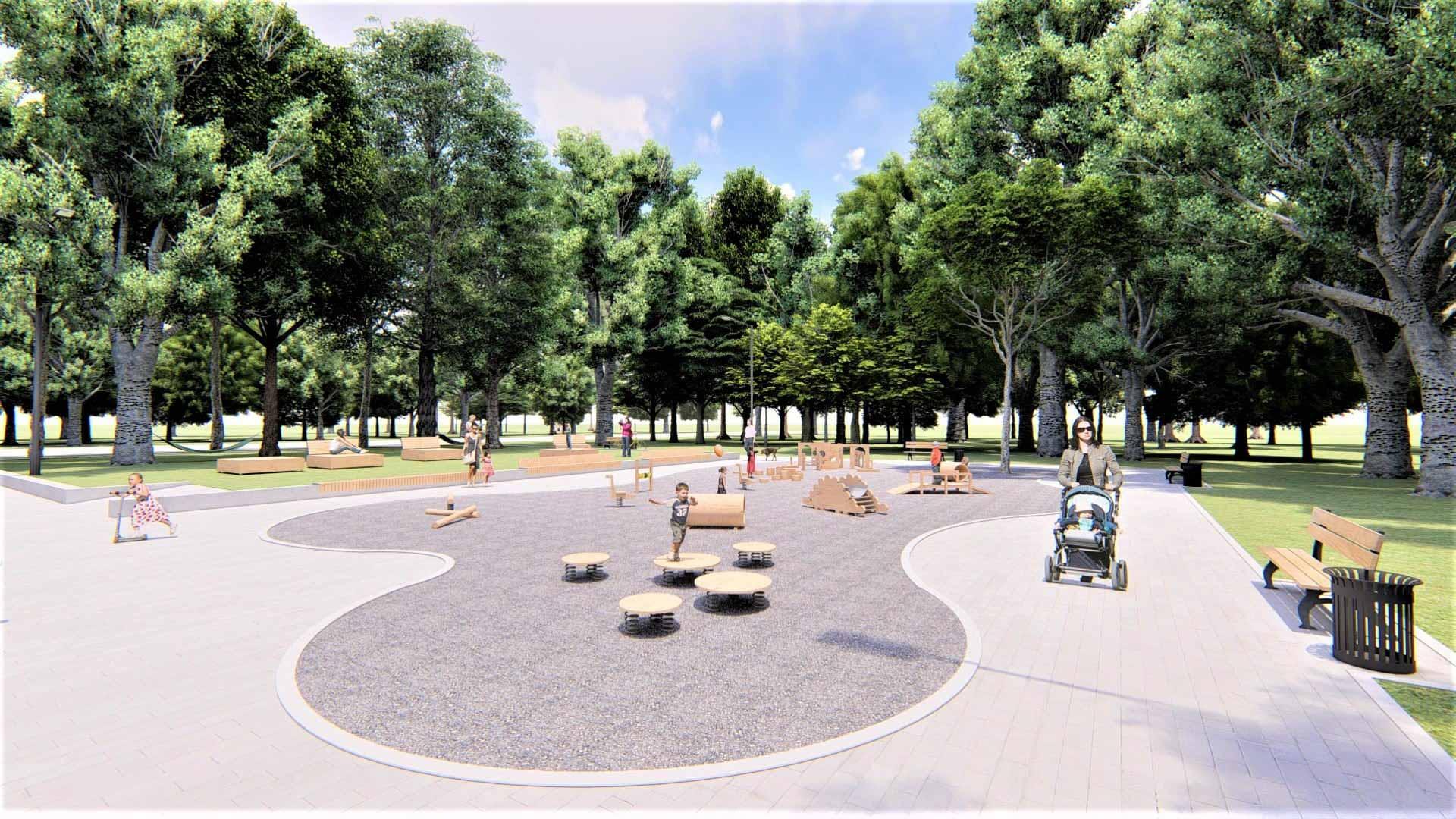 У парку Шевченка хочуть облаштувати простір для малечі – шукають меценатів (ПРОЄКТ)