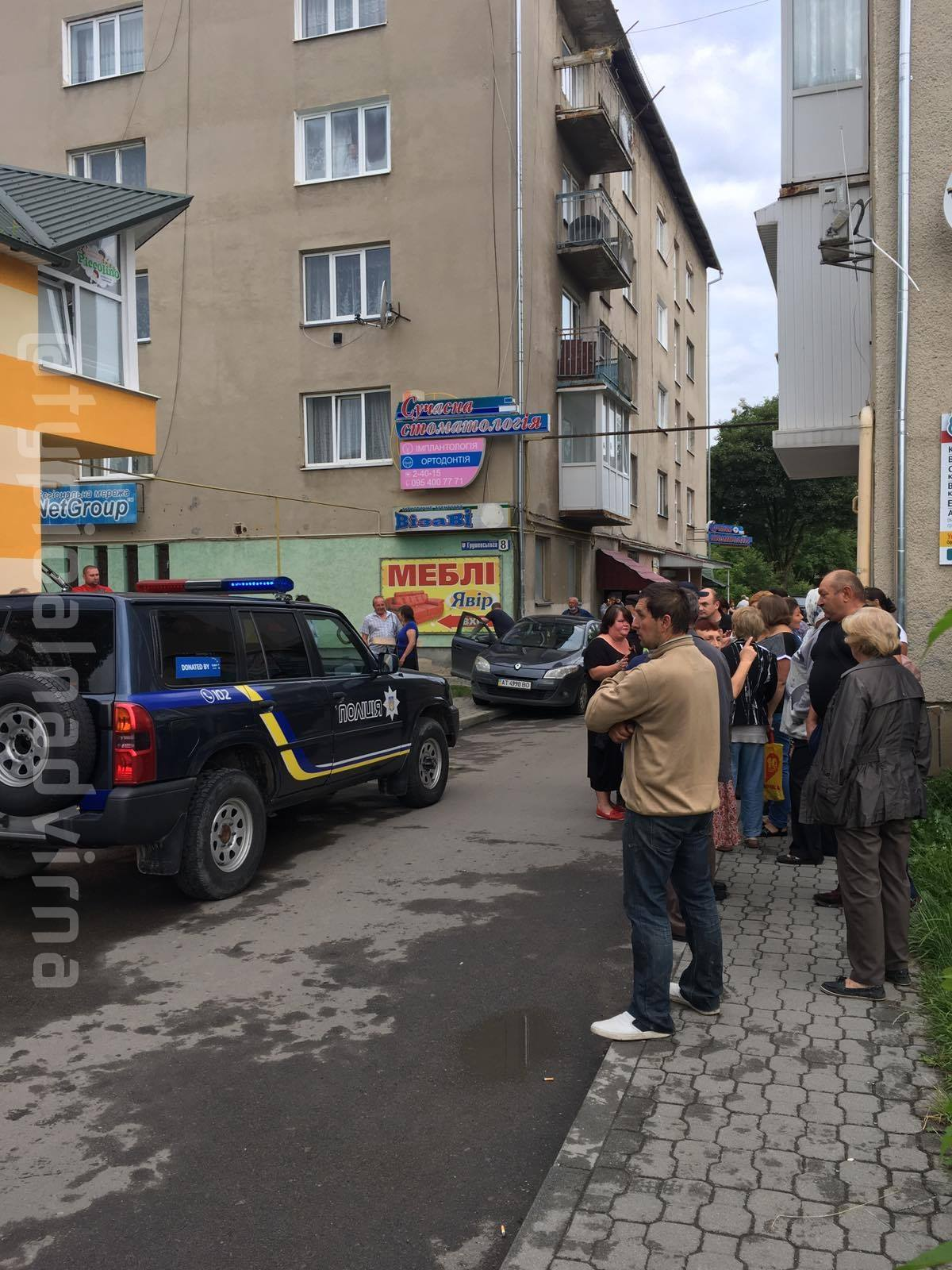 Скандал у Надвірній: мешканці стали на захист призовника-ухилянта (ФОТО, ВІДЕО)