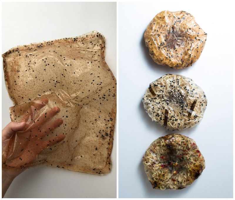 Перетворюється в соус: британка створила їстівну упаковку для локшини швидкого приготування