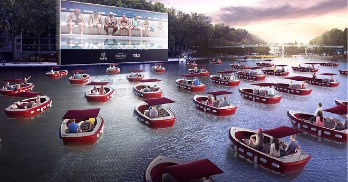 Під зорями на хвилях: у Парижі з'явиться кінотеатр на воді