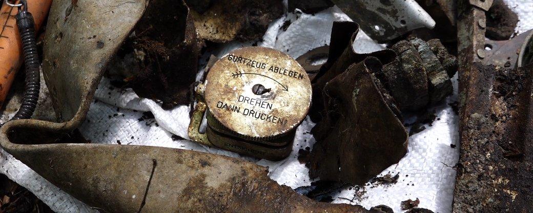 На Прикарпатті знайшли залишки німецького літака (ФОТО, ВІДЕО)