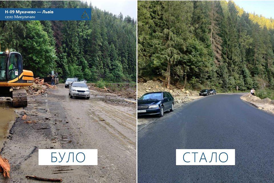 На Прикарпатті відновили пошкоджені повінню ділянки доріг Н-09 та Р-24 (ФОТО)