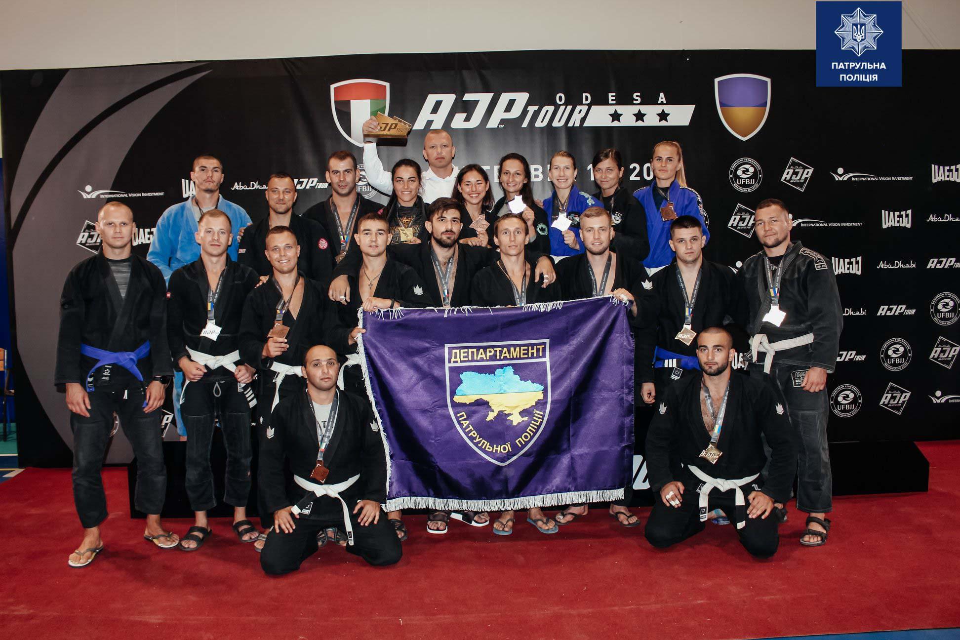Поліцейські з Франківська взяли золото та бронзу в міжнародних змаганнях з джиу-джитсу (ФОТО)