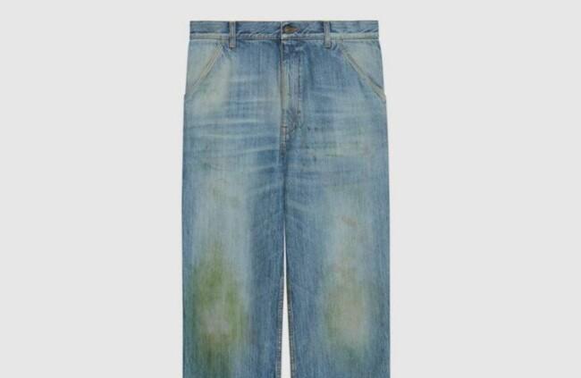 Gucci створив модні джинси з плямами від трави – придбати можна за 22 тисячі гривень (ФОТО)