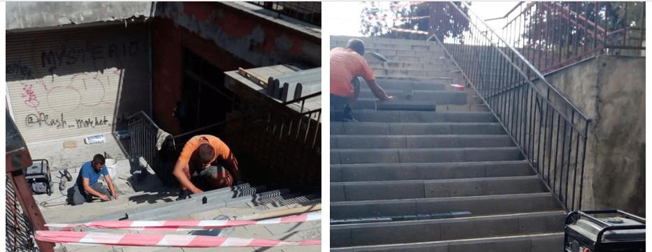 Розпочали ремонт сходів з Галицької на вулицю Глібова, але вони будуть без пандуса (ФОТО)