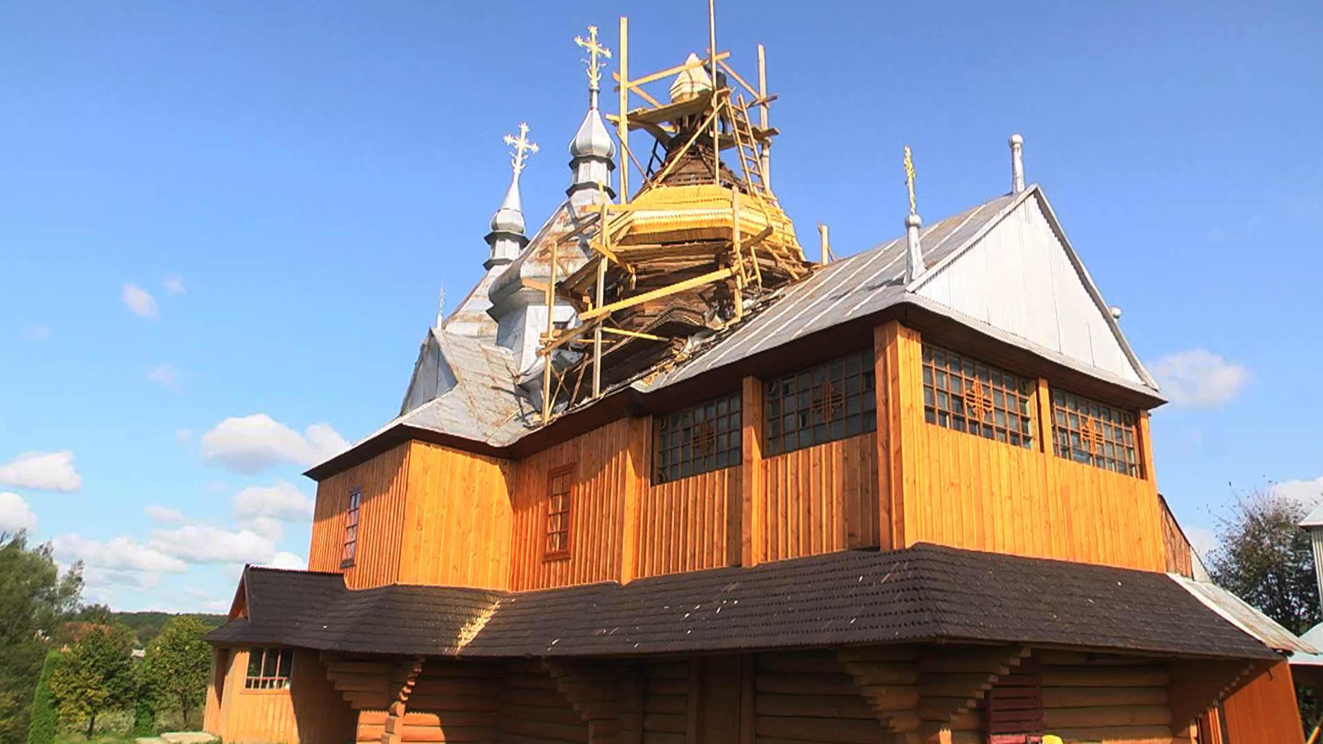 200-річний дерев'яний храм реставрують на Коломийщині (ВІДЕО)