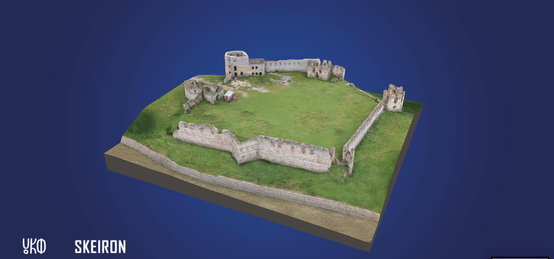 3D-модель Пнівського замку розмістять на туристичних листівках доповненої реальності