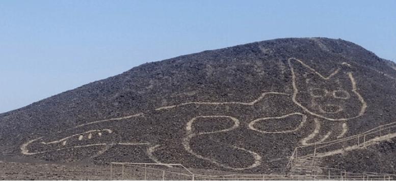 Археологи в Перу виявили 37-метровий геогліф кішки на плато (ФОТО)