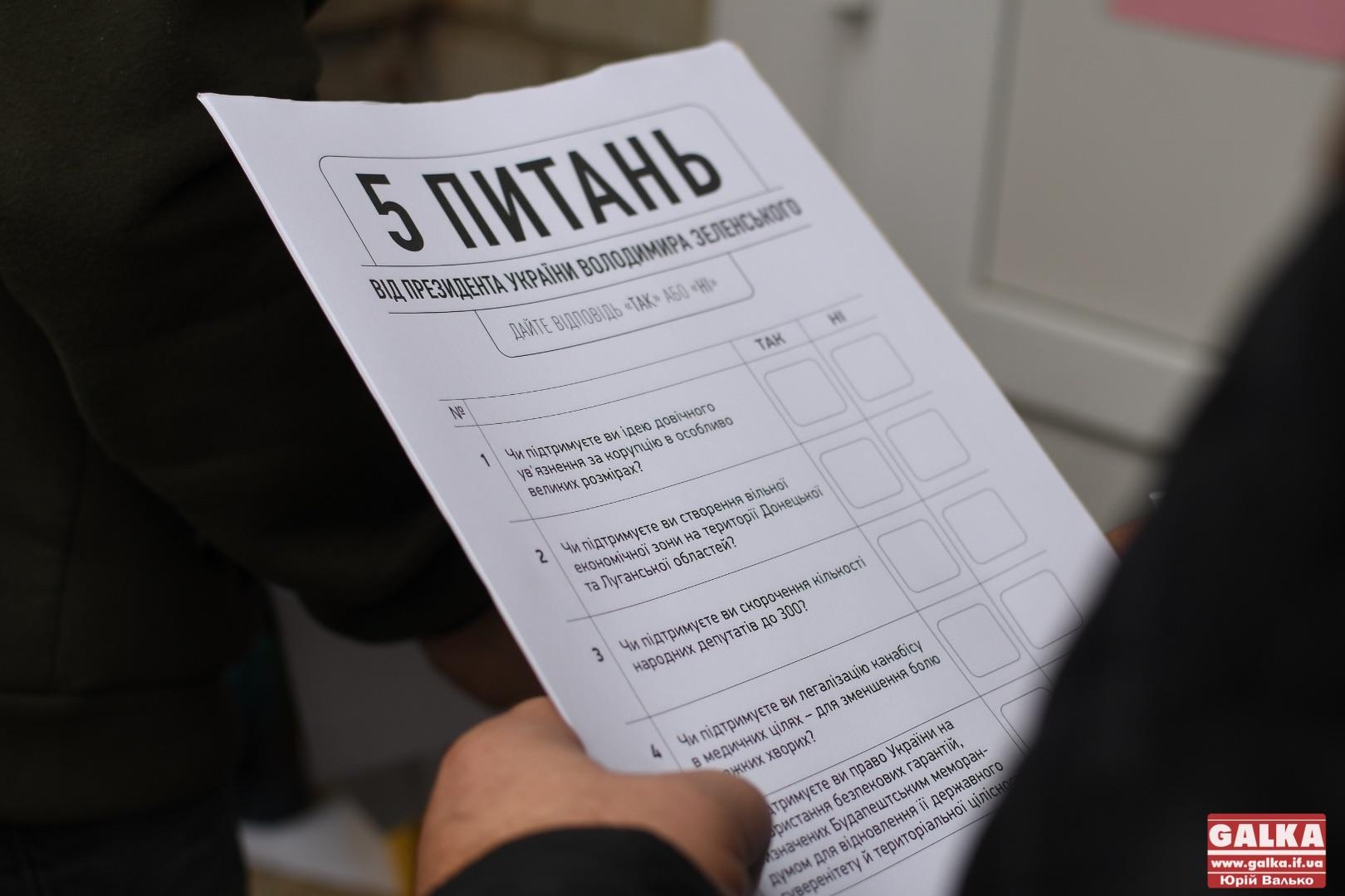 """Без контролю та з наріканнями людей: як проходить у Франківську """"всенародне"""" опитування Зеленського (ФОТО)"""