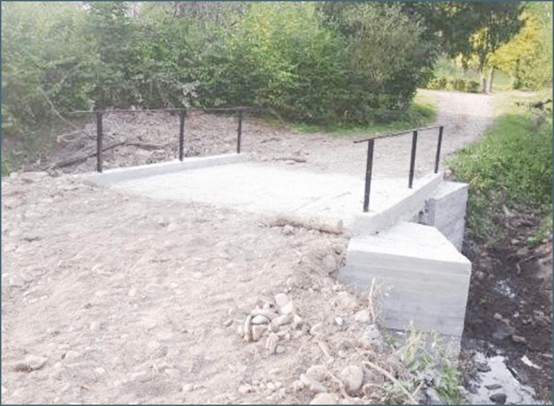 У селі на Долинщині відновили зруйновані паводком мости (ФОТО)