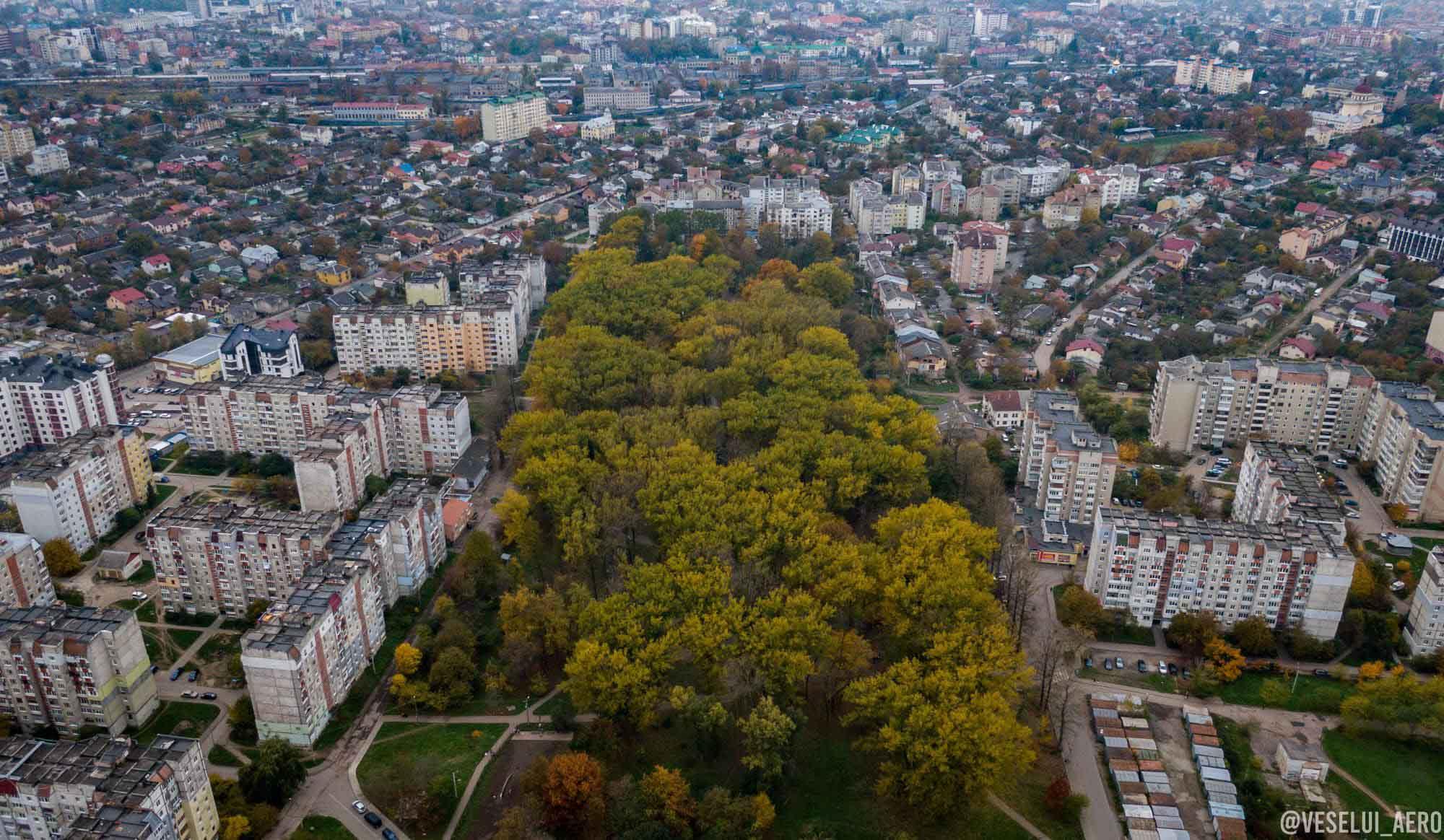 Майже Central Park: франківський парк Молодіжний показали з висоти (ФОТО)